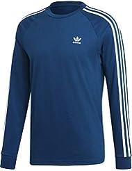 adidas 3-Stripes Longsleeve T-Shirt, Maglietta Uomo, Legend Marine, L