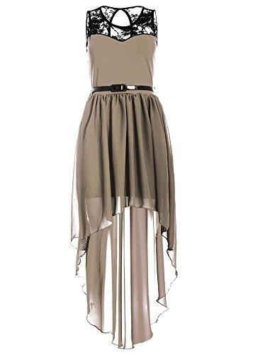 Drasawee Damen A-Linie Kleid Mokka