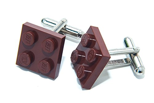 Marrón auténtica placa Lego Gemelos-Funky Retro
