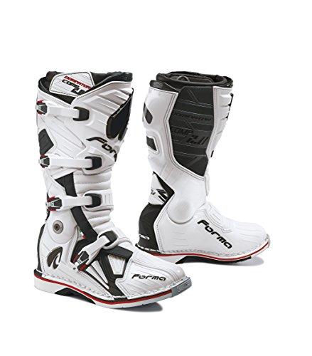 Forma Stiefel Moto Dominator Comp 2.0Eichzulassung CE, Weiß, 48