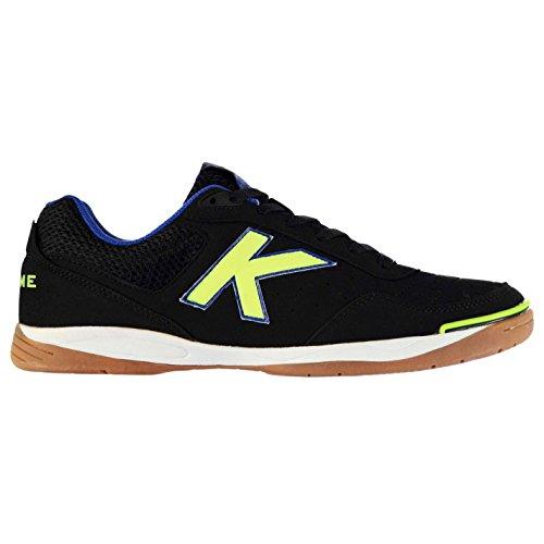 Kelme K Strong Indoor Court Hommes Chaussures Baskets Football Sport Sneakers Noir/Lime/Bleu