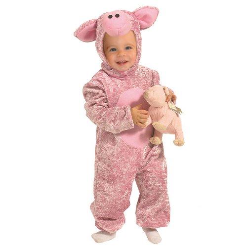 Kostümplanet® Schwein Kostüm Baby Schweinchen Kostüm Schweinkostüm rosa Glücks Schweinchen Größe 104