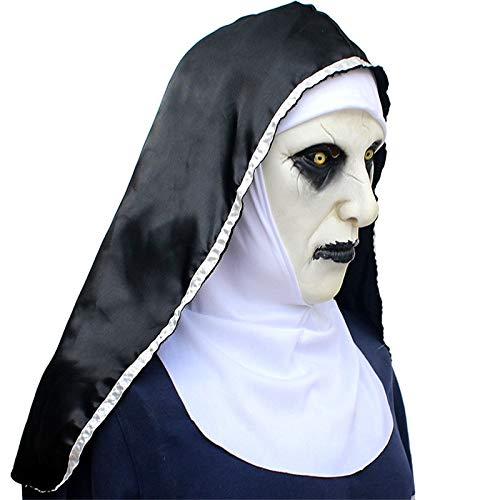 Movie The Nun Horror Maske Hood Helm Valak Halloween Cosplay Kostüme Props Party Maske Scary Masque Mit (Scary Movie High Maske)