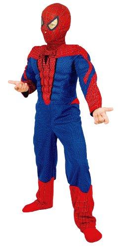 Marvel F044-003 - Spiderman Amazing 4 Kostüm, 2-teilig, bedruckt (Amazing Spiderman 2 Kostüm Kinder)