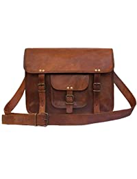 Pranjals House 13'' Vintage Leather Messenger Bag/ Briefcase/ Laptop Bag For Men And Women