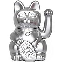 """Gatete. El clásico Gato de la Suerte o la Fortuna o Maneki-Neko en divertidos colores. PLATA: """"Suerte en los negocios."""" 12x9x18cm"""