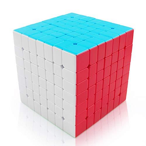 FAVNIC Magic Cube Pegless Speed Cube 7x7 Smooth Magic Cube Rompecabezas  para niños y Adultos