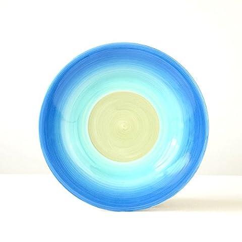 Platten, handbemalte Gerichte, runde Frühstücksteller, Keramik kreative Küche Platte, Western Dish, Pasta Teller Dekoration Platte 8,5 Zoll, K