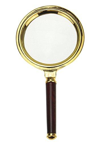 Lupe Glas Exquisite Handtasche Vergrößerung x10mit Holzgriff kratzfest Uhrmacherlupe mit...