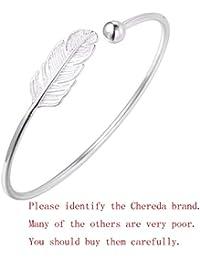Superbe bracelet feuille tendance en argent sterling 925pour filles et femmes