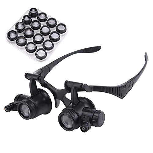zmigrapddn 2.5X 4X 6X 8X 10X 15X 20X 25X Eyewear Brillen Lupe Lupe Vergrößerungswerkzeuge Repair...