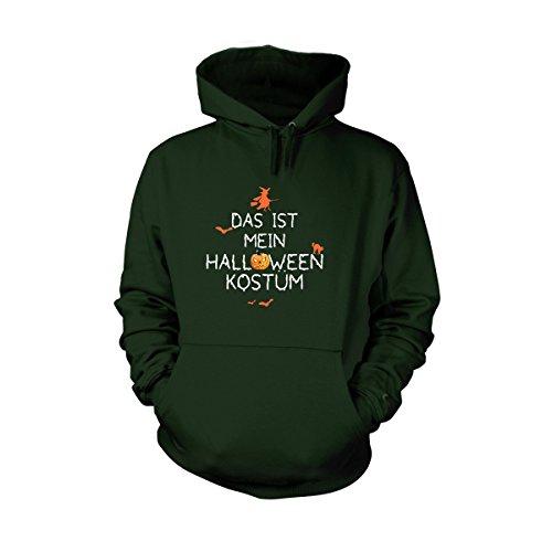 Shirtfun24 Herren Das IST Mein Halloween KOSTÜM Fun Hoodie Bottle grün, ()
