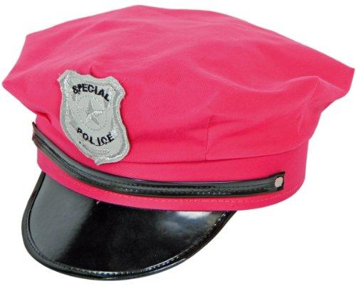 Polizeimütze in pink Mütze zum Polizistin Kostüm Karneval ()