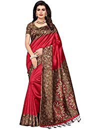 GoSriKi Art Poly Silk Saree with Blouse Piece