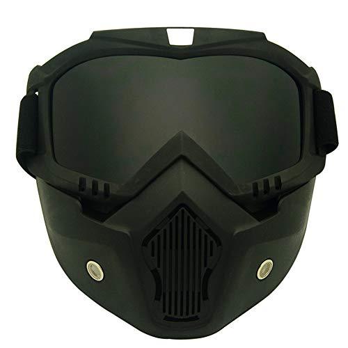 LFF SPORT Radsport-Brillen Motorrad helmbrillen Abnehmbare Maske Anti-Fog UV-Schutz Winddichte Brille Unisex Sonnenbrille,E