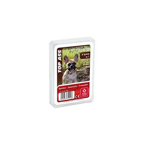 ASS Altenburger 22571992 - Top Ass Hunde, Kartenspiel - Trumpf und Quartett