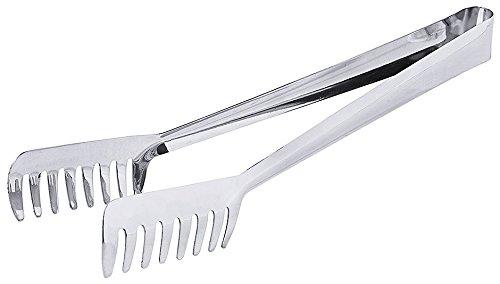 Spaghettizange in extra langer Ausführung - aus Edelstahl, zum Greifen in tiefe Nudeltöpfe / Länge: 31 cm | ERK