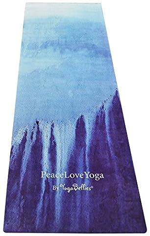 PeaceLoveYoga Mat by YogaBellies®. Luxury, Women's, Natural Rubber, Pro Yoga Mat. Eco Friendly. No Mat Towel Required. Perfect for Hot Yoga, Bikram, Ashtanga, Pregnancy.