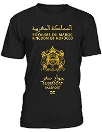teezily T-Shirt Homme Moroccan Passport - Passeport du Maroc - Royaume du  Maroc - b47593c80e7