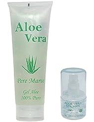 Gel d'aloe vera 100% Soin Hydratant Set de voyage Tube de 250ml + 30ml Recharge pour Doseur bagages à main