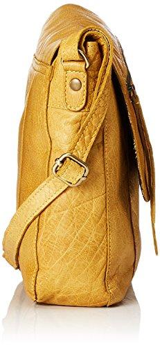 PIECES Damen Pckimono Leather Cross Body Umhängetasche, 6x20x28 cm