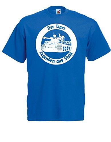 T-Hemd - Der Tiger - Legenden aus Stahl (L, Blau)