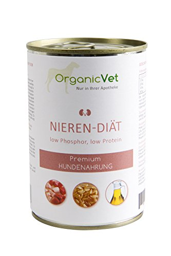 ORGANICVET Hund Nassfutter Veterinary Nieren-Diät, 6er Pack (6 x 400 g)