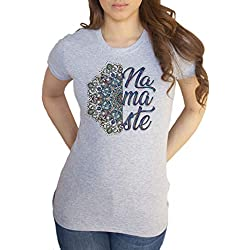 Irony Camiseta de Mujer Namaste Diseño étnico Motivo Meditación Boho Imprimir TS1663