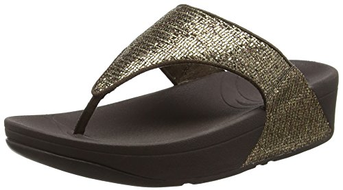 FitFlop Lulu Superglitz, Sandali Donna, colore marrone (copper), taglia 40