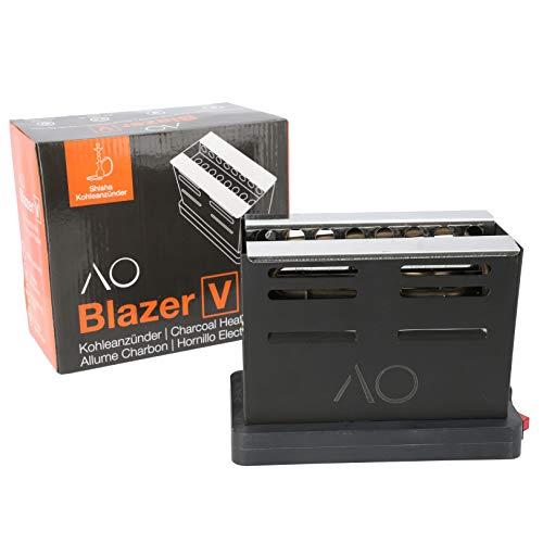 AO® BLAZER Encendedor eléctrico cachimba | Horno con Encendedor Narguile con forma de tostador | Rejilla...