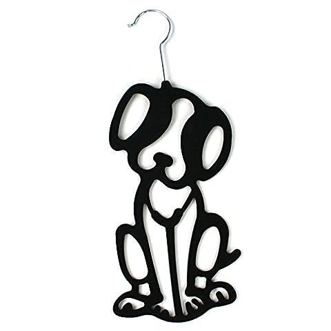 Cute Black Dog Scarf Hanger Belt Ties Shawl Necktie Wardrobe Organiser