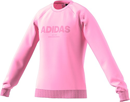 adidas Mädchen Allcap Langarm Sweatshirt, Haze Coral/Clear Orange, 152