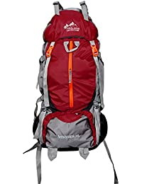 Himalayan Adventures 80 Ltrs Mehroon Backpack/Rucksack/Travelling Bag/Hiking Bag/Adventure Bag/Camping Bag (Nylon...