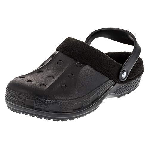 2Surf Gefütterte Damen Clogs Winter Schuhe Pantoffel warmes Futter in tollen Farben M476sw Schwarz 37 EU