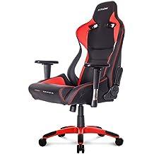 AK Racing Pro X Gaming Stuhl rot, Kunstleder, Schwarz/Rot