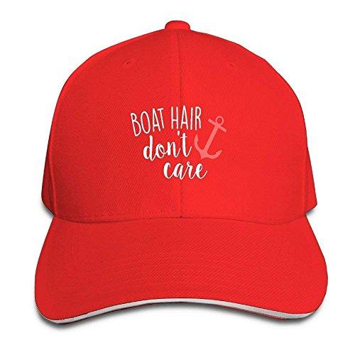 AOHOT Herren Damen Baseball Caps,Hüte, Mützen, Classic Baseball Cap, Unisex Dyed Cotton Adjustable Plain Baseball Cap Boat Hair Don't Care Trucker Hat (Gefangen Caris)