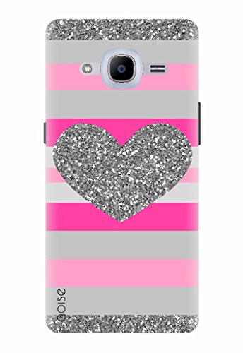 Noise Designer Printed Case/Cover for Samsung Galaxy J2 Pro - 6 (New 2016 Edition) / Bling/Heart Design (GD-235)