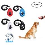 clicker per l' addestramento del cane, Lanmuâ 4pezzi strumenti di formazione Pet clicker Trainer per cucciolo gatto/cavallo con masticare giocattolo batuffolo di cotone sulla corda