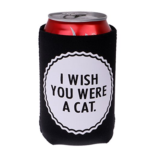 41a5mAGTlrL. SS500  - Sharplace I WISH YOU WERE A CAT, MEOW MEOW Set Funny Stubby Beer Tin Can Cooler Sleeve Wedding Party Accessories