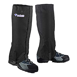Diswoe Hiking Leg Gaiters Waterproof Snow Gaiters Outdoor Unisex Lightweight Snow Boot Gaiters for Snow, Hiking and Climbing Legging Gaiters 1 pair