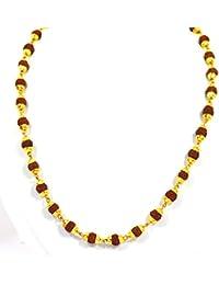 Fabzeel Rudraksha Mala one gram gold plated long 24 inch chain for Men …