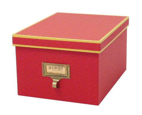 Cargo Athenaeum Sant Foto/Box, 5-1/2von 10von 7-1/2Zoll rot