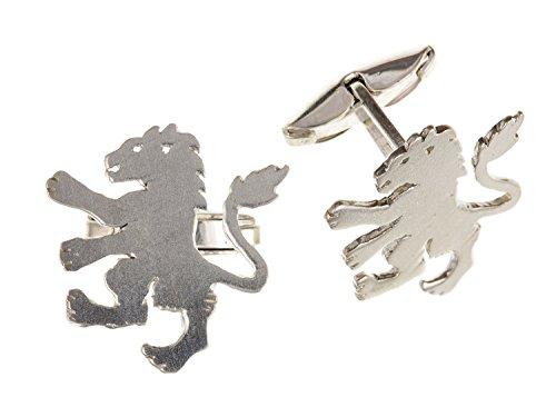 Angleterre/anglais/British Lions Boutons de manchette - Argent Sterling 925 - Livré dans une boîte cadeau gratuit ou sac cadeau