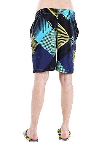 Tuopuda Herren Badeshorts Mischfarben Schnelltrocknend Beachshorts Strand Shorts Sommer Shorts Gelb