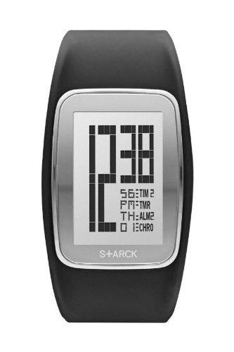 P. Starck Unisex Digital Quarz Uhr mit Kautschuk Armband PH1120