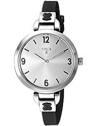 Reloj Bohème de acero con correa de silicona negra