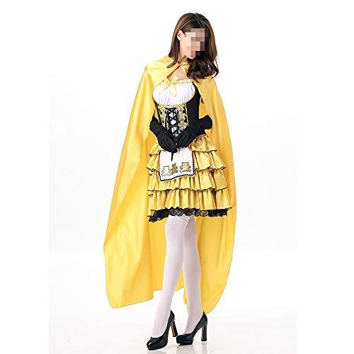 Kostüm Mädchen Blonde - kMOoz Halloween Kostüm,Outfit Für Halloween Fasching Karneval Halloween Cosplay Horror Kostüm,Halloween Cosplay Bär Kostüm Märchen Blonde Mädchen Party Dance Queen Kostüm