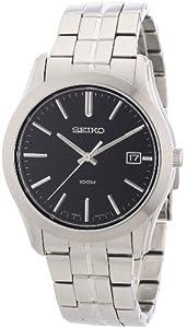 Seiko SGEE43P1 - Reloj analógico de caballero de cuarzo con correa de acero inoxidable plateada - sumergible a 100 metros de Seiko