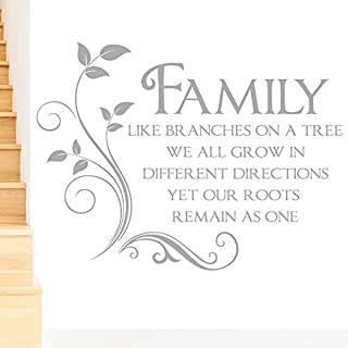 Rubybloom Designs Family Like Branches on a Tree Quote Words Wall Sticker