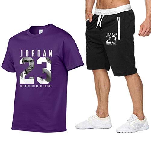 Chicago Bulls Jordan Druck Mann Mode Kurzarm T Shirt, Herren T Shirts Sweatshirt Basketball Tee Tops+Shorts 2pcs
